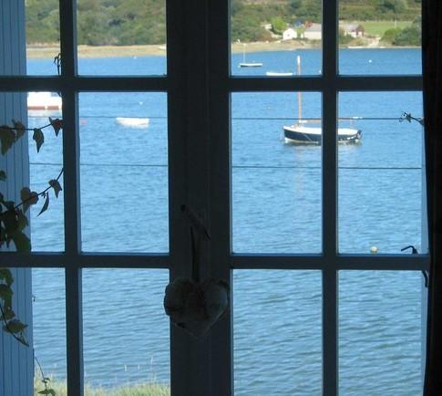 Maisons de pêcheur vue mer